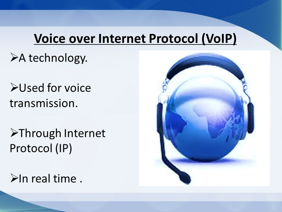 What is Voice over Internet Protocol (VoIP)?